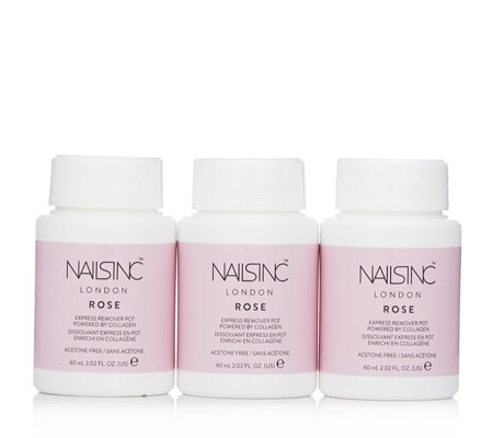 Nails Inc Rose Fragrance Nail Polish Remover With Collagen Trio