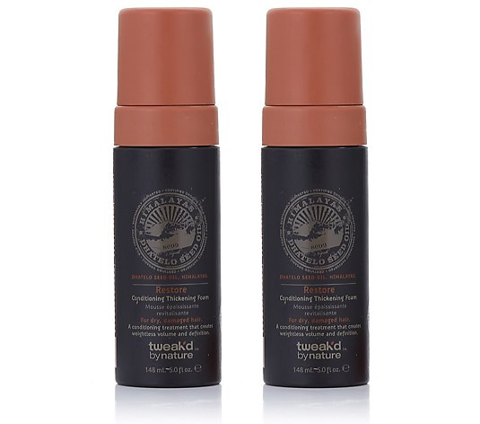 Tweak'd Dhatelo Restore Conditioning Volumizing Foam Duo