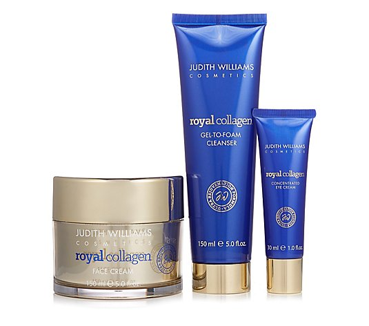 Judith Williams Royal Collagen 3 Piece Targeted Skincare Collection
