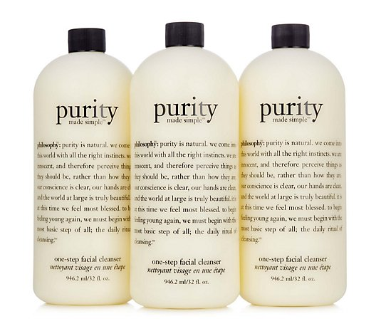 Philosophy Purity Made Simple Facial Cleanser 946ml Trio
