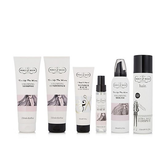 Percy & Reed 6 Piece Turn Up The Volume Hair Collection