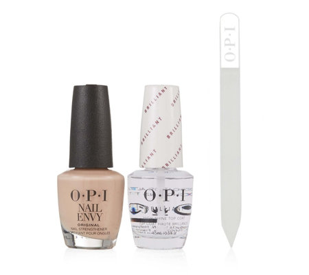 OPI Samoan Sand Nail Envy With Top Coat & Crystal Nail File