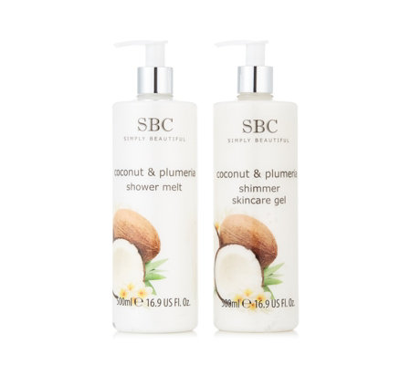 SBC 2 Piece Coconut & Plumeria Hydrating Essentials Collection