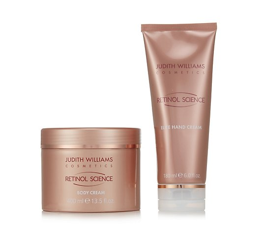 Judith Williams Retinol Science 2 Piece Hand & Body Collection