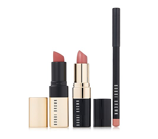 Bobbi Brown Pretty in Pink 3 Piece Lip Collection