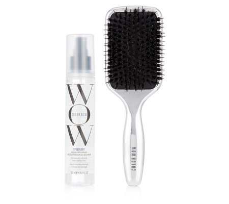 Color Wow Dream Smooth Paddle Brush & Speed Dry Spray 150ml