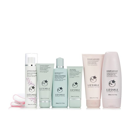 Liz Earle Indulgent Rose Face & Body 6 Piece Collection