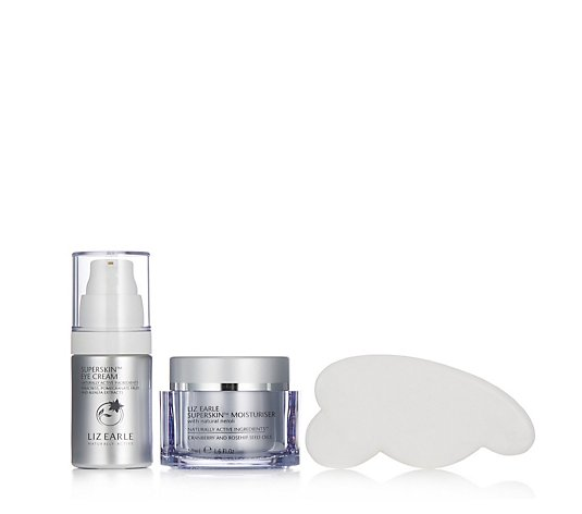 Liz Earle Superskin Moisturiser and Eye Cream With Gua Sha