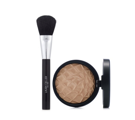 Laura Geller Baked Gelato Illuminator in Rose Glow 11g & Brush