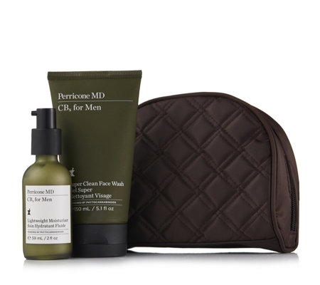 Perricone 2 Piece Men's CBx Skincare Collection with Bag