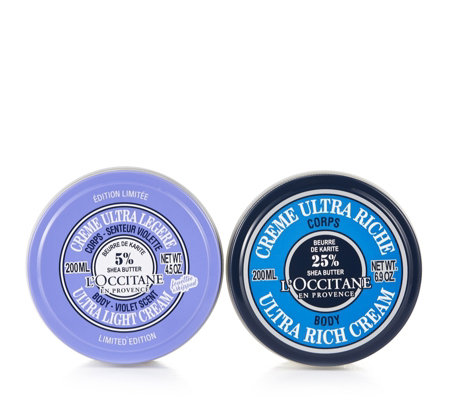 L'Occitane Shea Ultra Rich & Shea Violet Body Cream Duo