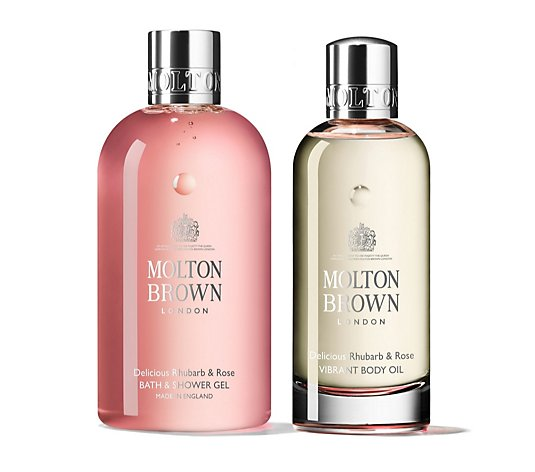 Molton Brown Rhubarb & Rose Equisit Body Care Duo