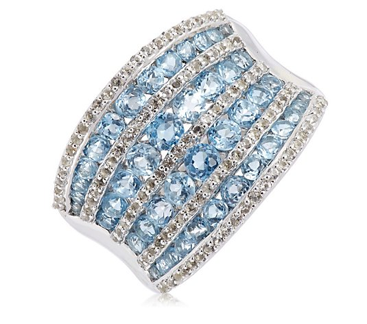 1.89ct Topaz Corset Band Ring Sterling Silver