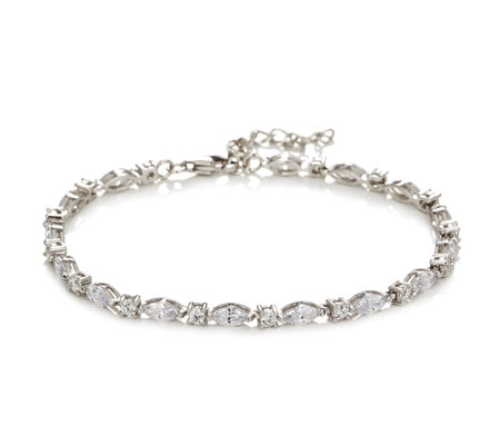 Diamonique 3ct tw Tennis Marquise Cut 20cm Bracelet Sterling Silver