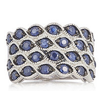 2.50ct Blue Sapphire Band Ring Sterling Silver - 337001