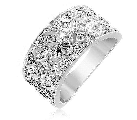 0.50ct Diamond Mixed Cut Band Ring 9ct Gold