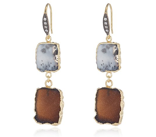 Hilary Joy Couture Double Drop Earrings Sterling Silver