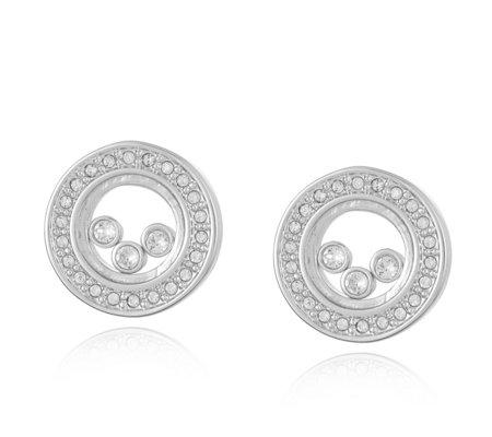 Aurora Swarovski Crystal Captured Stud Earrings Qvc Uk