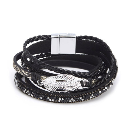 Frank Usher Feather Wrap Bracelet