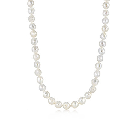 Honora 12mm White Cultured Ming 75cm Necklace Sterling Silver
