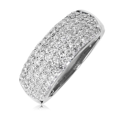 1.00ct Dazzling Diamond Pave Band Ring 9ct Gold