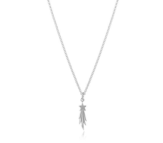 Lily Charmed Moon & Stars 45cm Necklace Sterling Silver