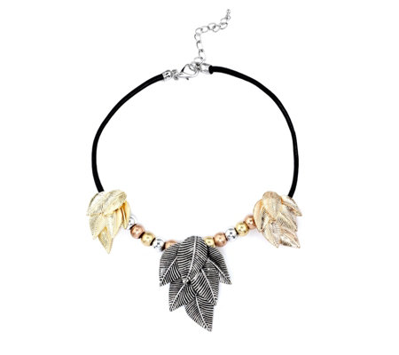 Frank Usher Layered Leaf 48cm Necklace