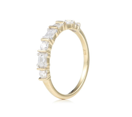 0.50ct Diamond Art Deco Band Ring 9ct Gold