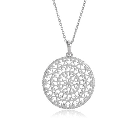K by Kelly Hoppen Capri Filigree 60cm Necklace Sterling Silver