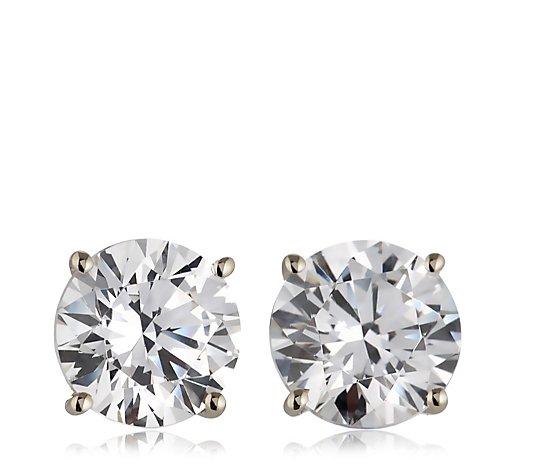 Diamonique 2ct Tw Stud Earrings 9ct Gold Qvc Uk