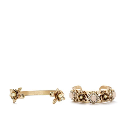 Danielle Nicole Disney Beauty and the Beast Cuff Bracelet Set