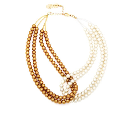 Butler & Wilson Faux Pearl Loop 44cm Necklace