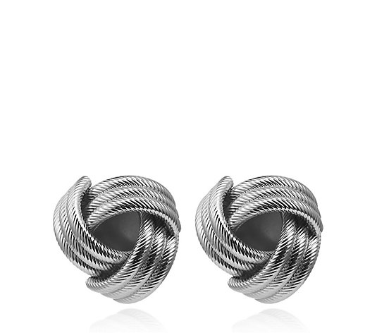 Frank Usher Twisted Knot Clip Earrings