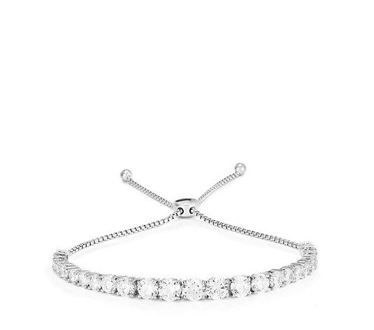 Outlet Diamonique 4.9ct tw 25th Anniversary 25 Stone Bracelet Sterling Silver