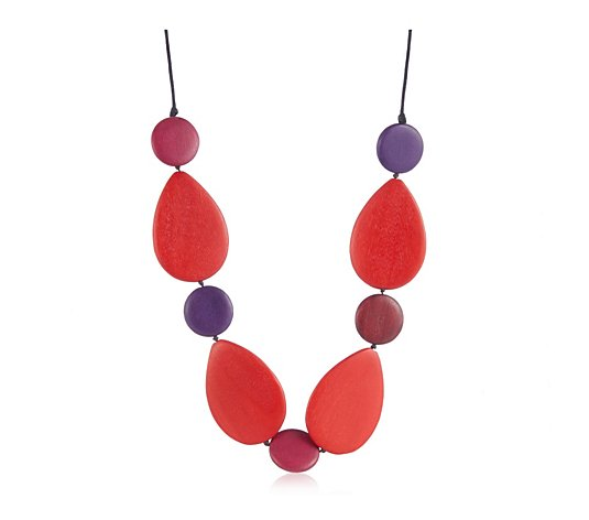 One Button Elipse 90cm Necklace