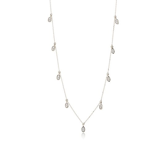 0.25ct Diamond Drop 40cm Necklace 9ct Gold