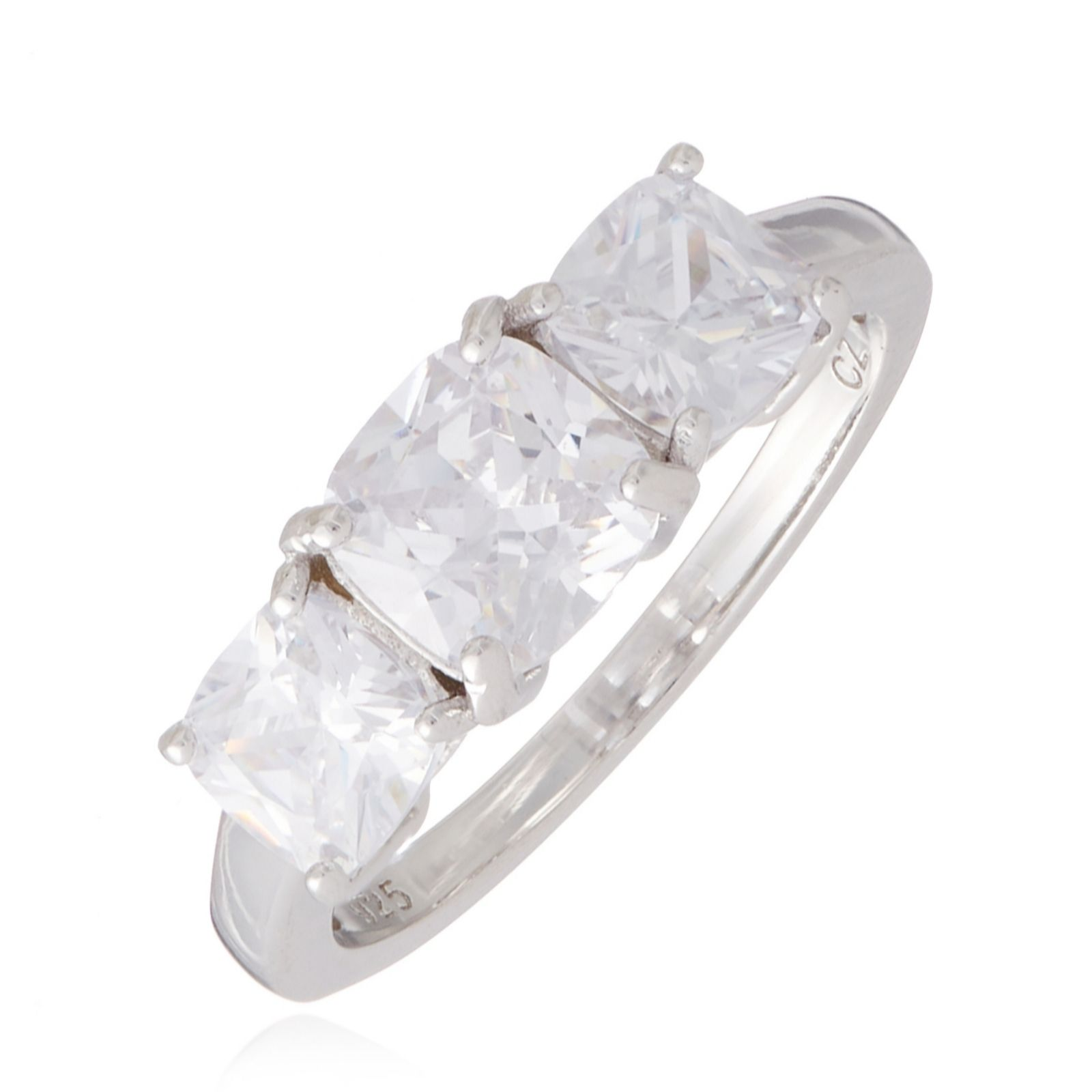 Sterling Silver Solitaire Bridal Ring 2.4 CT Square Halo Engagement Ring Brilliant Round Cut Simulated Stone With Accents