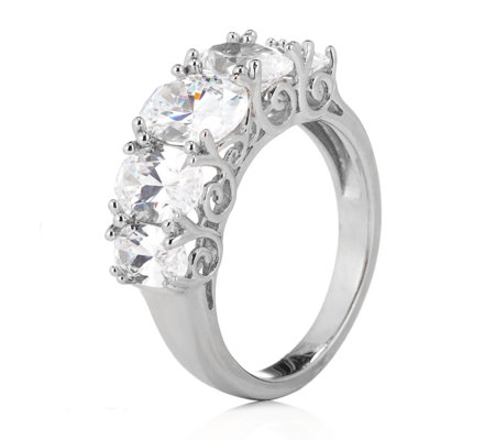 Michelle Mone for Diamonique 3.8ct tw 5 Stone Ring Sterling Silver