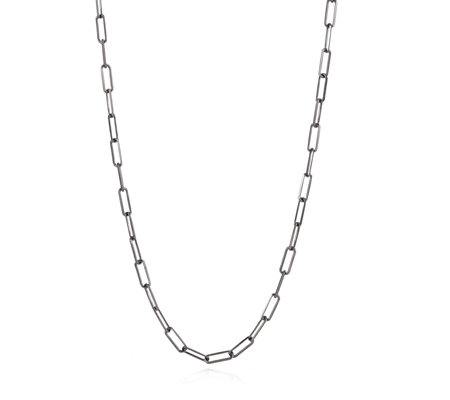 Bronzo Italia Rectangle Link 80cm Necklace