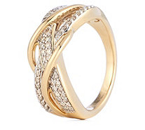 0.35ct VS Collection Diamond Wave Ring 14ct Gold - 340307