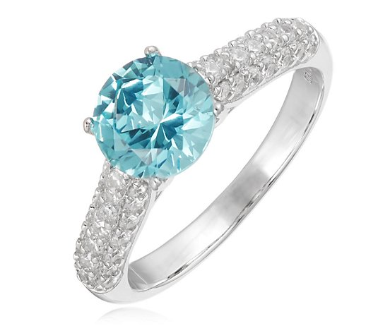 Diamonique 2.4ct tw Simulated Gemstone Ring Sterling Silver