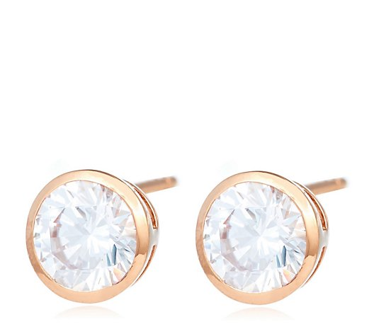 Diamonique 6ct tw Set of 3 Stud Earrings Sterling Silver