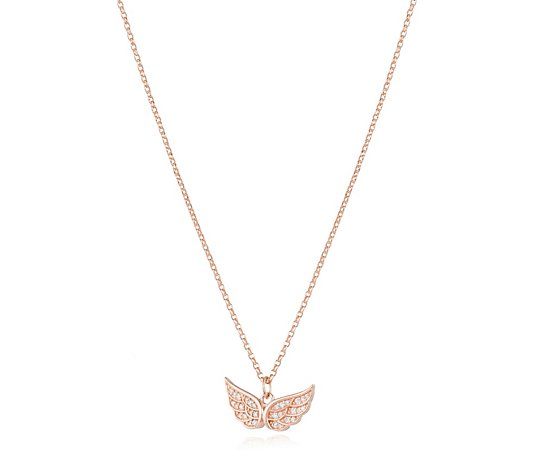 Escape by Melissa Odabash Angel Wing Pendant & Chain Sterling Silver