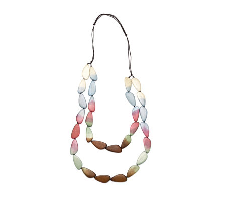 One Button Ombre Slices 90cm Necklace