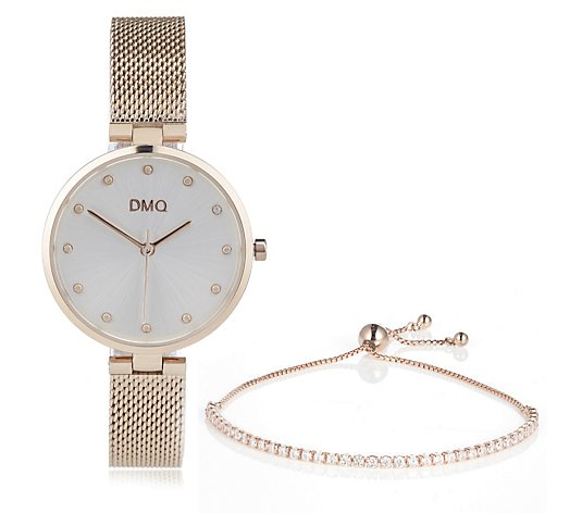 Diamonique 1.2ct tw Watch & Sterling Silver Bracelet