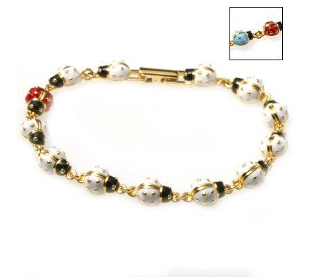 Joan Rivers Pastel Ladybug 19cm Bracelet