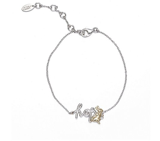 Beatrix Potter Peter Rabbit 21cm Bracelet Sterling Silver