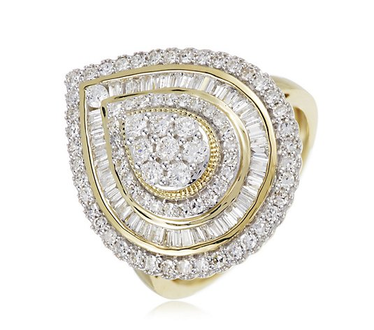 1.00ct Diamond Pear Cocktail Ring 9ct Gold