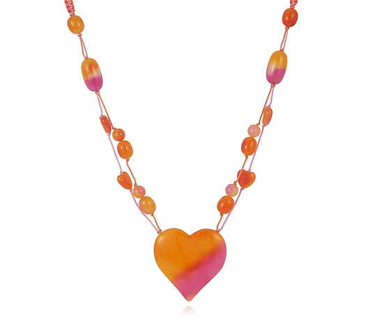 "Lola Rose Semi Precious Buddy Heart 18-25"" Necklace"