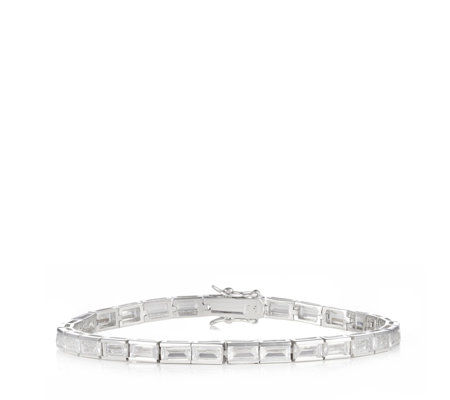 Michelle Mone for Diamonique 10ct tw Radiant Cut 19cm Bracelet Sterling Silver